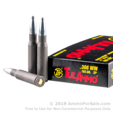 20 Rounds of 165gr SP .308 Win Ammo by Tula