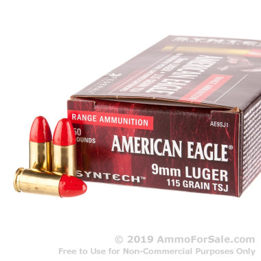 500 Rounds of 115gr Total Synthetic Jacket 9mm Ammo by Federal