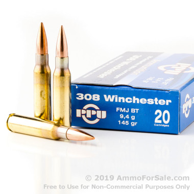 500  Rounds of 145gr FMJBT .308 Win Ammo by Prvi Partizan
