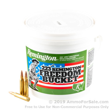 300 Rounds of 55gr FMJ .223 Ammo by Remington