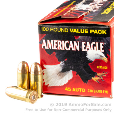 100 Rounds of 230gr FMJ .45 ACP Ammo by Federal