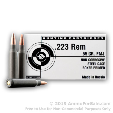 500  Rounds of 55gr FMJ .223 Ammo by Tula
