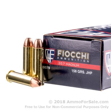1000 Rounds of 158gr JHP .357 Mag Ammo by Fiocchi