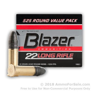 525 Rounds of 40gr LRN .22 LR Ammo by CCI