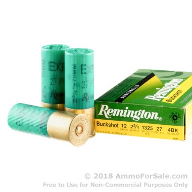 250 Rounds of  #4 Buck 12ga Ammo by Remington
