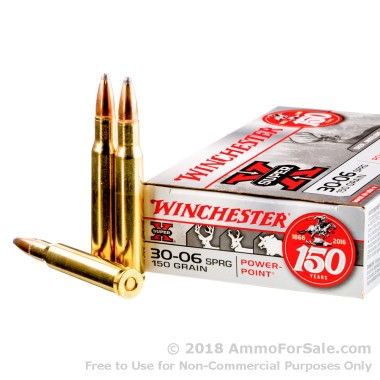 200 Rounds of 150gr PP 30-06 Springfield Ammo by Winchester