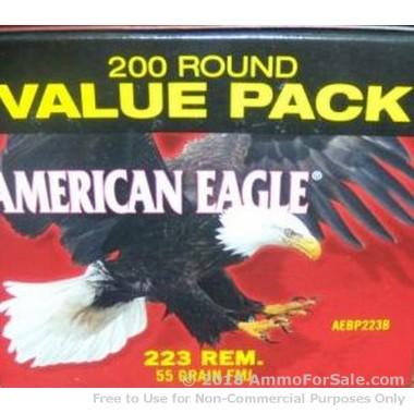200 Rounds of 55gr FMJ .223 Ammo by Federal