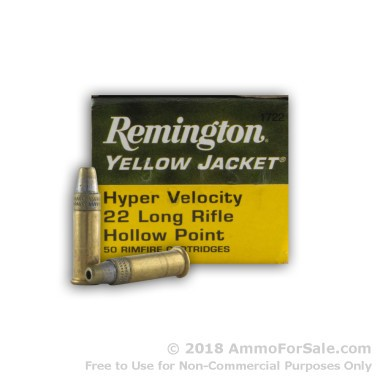 50 Rounds of 33gr TC- HP .22 LR Ammo by Remington