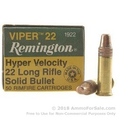 500  Rounds of 36gr TC-SB .22 LR Viper Ammo by Remington
