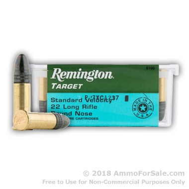 100 Rounds of 40gr LRN .22 LR Ammo by Remington