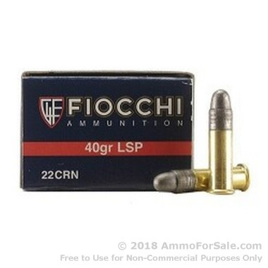 5000 Rounds of 40gr LRN .22 LR Ammo by Fiocchi