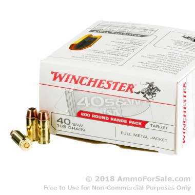 600 Rounds of 165gr FMJ .40 S&W Ammo by Winchester
