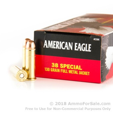 1000 Rounds of 130gr FMJ .38 Spl Ammo by Federal
