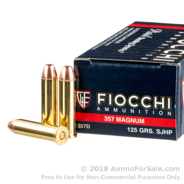 1000 Rounds of 125gr SJHP .357 Mag Ammo by Fiocchi