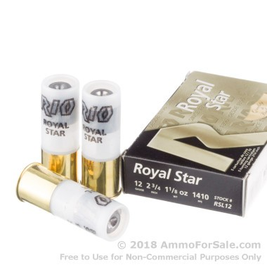 250 Rounds of 1 1/8 ounce Rifled Slug 12ga Ammo by Rio Ammunition