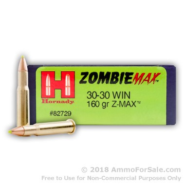 20 Rounds of 160gr Z-Max 30-30 Win Ammo by Hornady