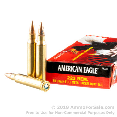 500  Rounds of 55gr FMJBT .223 Ammo by Federal