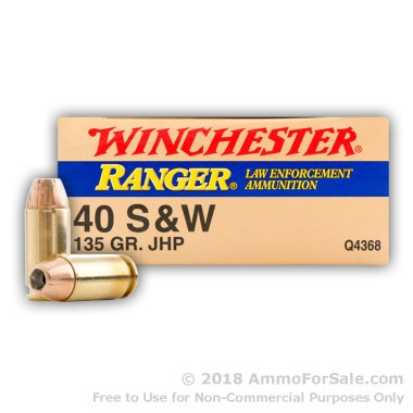 50 Rounds of 135gr JHP .40 S&W Ammo by Winchester