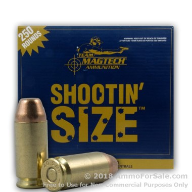 250 Rounds of 180gr FMJ .40 S&W Ammo by Magtech