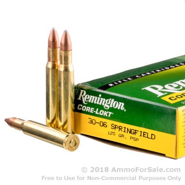 200 Rounds of 125gr PSP 30-06 Springfield Ammo by Remington