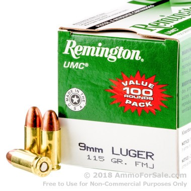 600 Rounds of 115gr MC 9mm Ammo by Remington