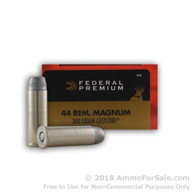 20 Rounds of 300 gr CastCore .44 Mag Ammo by Federal