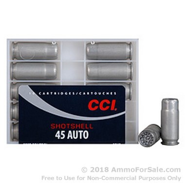 10 Rounds of 120gr #9 shot .45 ACP Ammo by CCI