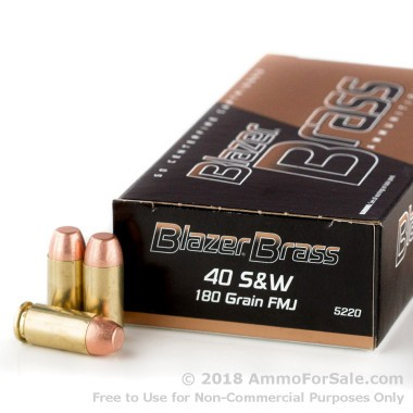 1000 Rounds of 180gr FMJ .40 S&W Ammo by Blazer