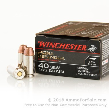 20 Rounds of 165gr JHP .40 S&W Ammo by Winchester