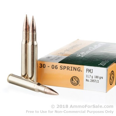 20 Rounds of 180gr FMJ 30-06 Springfield Ammo by Sellier & Bellot