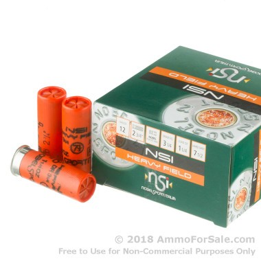 250 Rounds of 1 1/4 ounce #7 1/2 shot 12ga Ammo by NobelSport