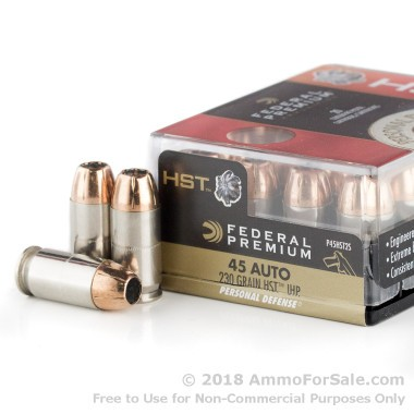 200 Rounds of 230gr JHP .45 ACP Ammo by Federal