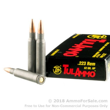 20 Rounds of 62gr HP .223 Ammo by Tula