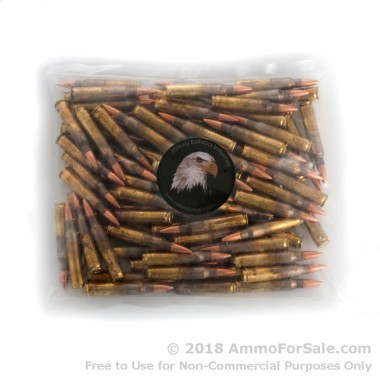 100 Rounds of 55gr FMJBT .223 Ammo by M.B.I.