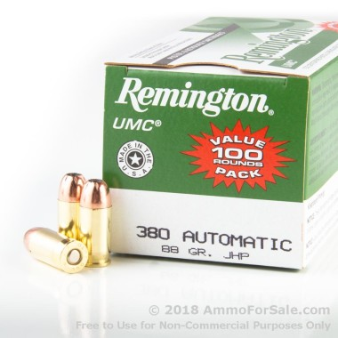 600 Rounds of 88gr JHP .380 ACP Ammo by Remington