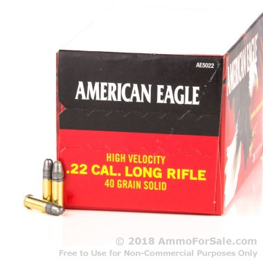 5000 Rounds of 40gr LRN .22 LR Ammo by Federal