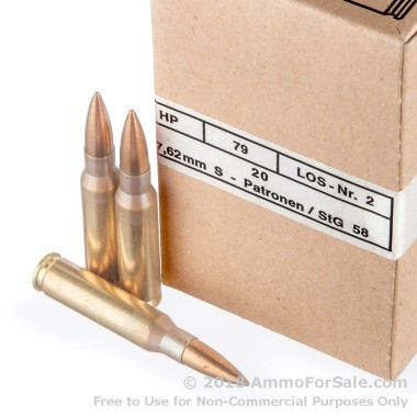 240 Rounds of 146gr FMJ .308 Win Ammo by Hirtenberger