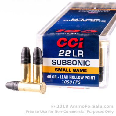 100 Rounds of 40gr LHP .22 LR Ammo by CCI