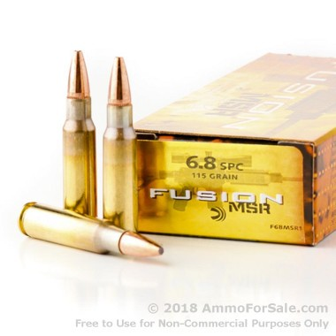 20 Rounds of 115gr Fusion 6.8 SPC Ammo by Remington