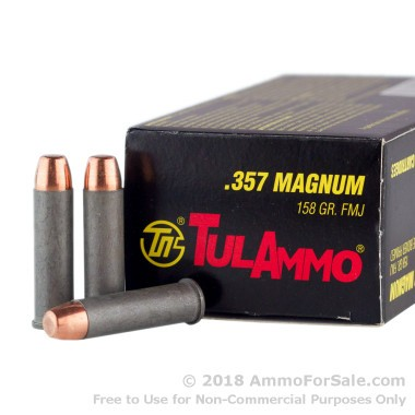 1000 Rounds of 158gr FMJ .357 Mag Ammo by Tula