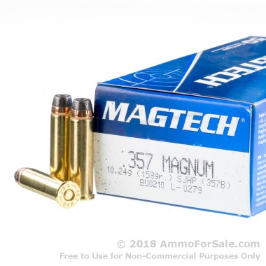 50 Rounds of 158gr SJHP .357 Mag Ammo by Magtech