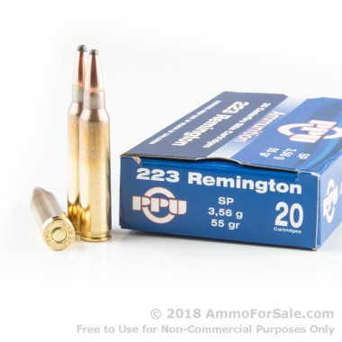 20 Rounds of 55gr SP .223 Ammo by Prvi Partizan
