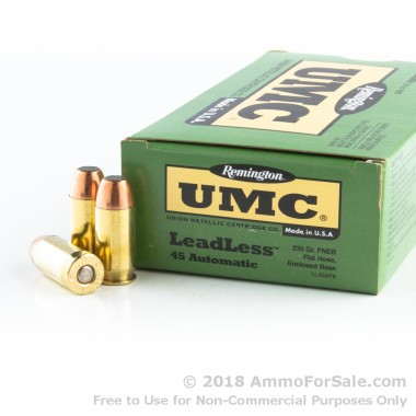 50 Rounds of 230gr Leadless FNEB .45 ACP Ammo by Remington