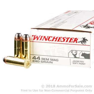 500  Rounds of 240gr JSP .44 Mag Ammo by Winchester
