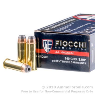500 Rounds of 240gr SJHP .44 Mag Ammo by Fiocchi
