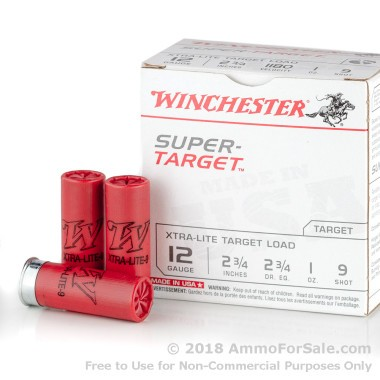 250 Rounds of 1 ounce #9 shot 12ga Ammo by Winchester