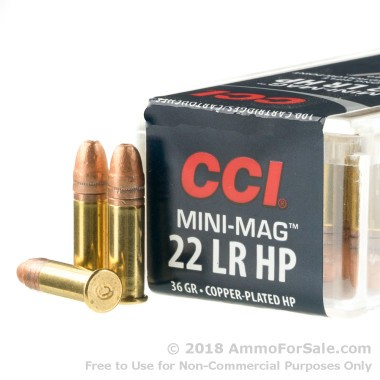 100 Rounds of 36gr CPHP .22 LR Ammo by CCI