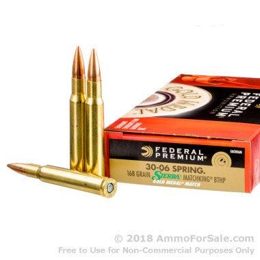 200 Rounds of 168gr HPBT 30-06 Springfield Ammo by Federal
