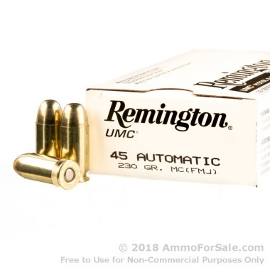1000 Rounds of 230gr MC .45 ACP Ammo by Remington