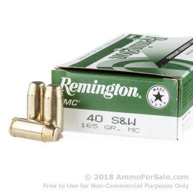 50 Rounds of 165gr MC .40 S&W Ammo by Remington